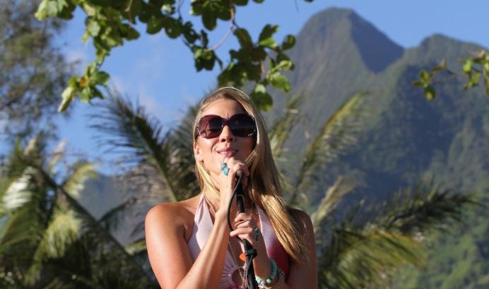 Colbie Caillat at the Billabong Pro Tahiti