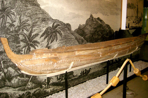 Canoe at Museum of Tahiti and Her Islands