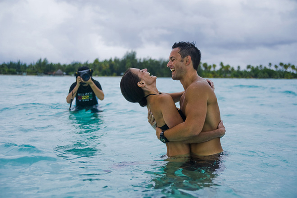 Shira and Chuck Badger in Bora Bora, PHOTO: Helene Havard