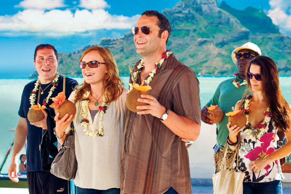 Cast of Couples Retreat in Bora Bora