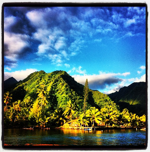 Kelly Slater's Instagram Photo in Tahiti