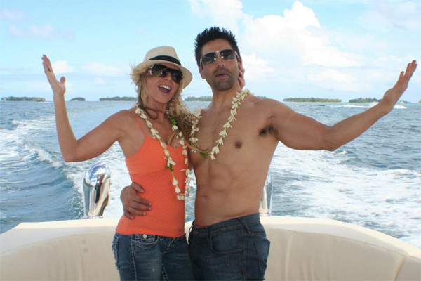Tamra and Eddie in Bora Bora