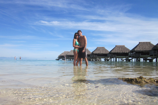 Our clients, Philip and Valentina, on their honeymoon.