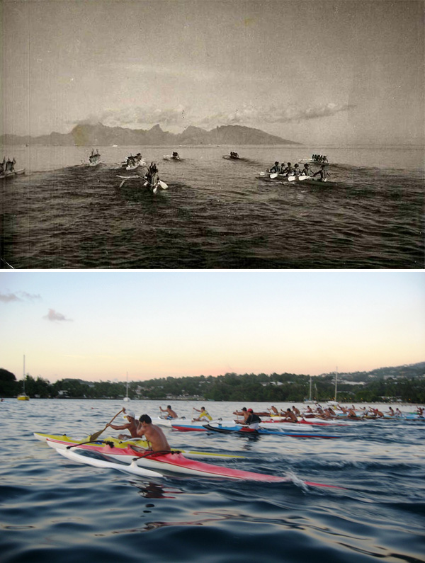 Va'a in Tahiti, Past and Present