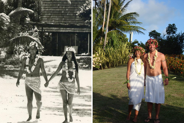 Couple in Tahiti, Past and Present