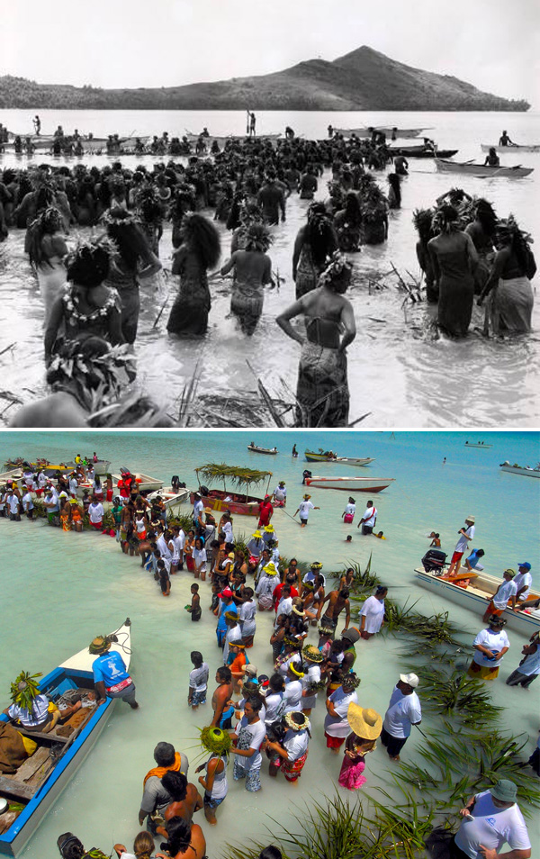 Stone Fishing in Tahiti, Past and Present