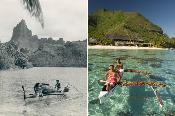 Canoe in Tahiti, Past and Present