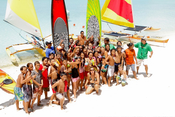 Kids Day at the 2012 Bora Bora Liquid Festival, Photo: Wim Lippens