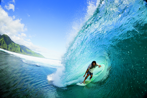 Danny Fuller surfing in Tahiti, Photo: Zak Noyle