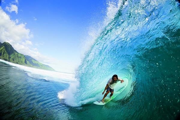 Danny Fuller surfing in Tahiti, Photo: Zak Noyle