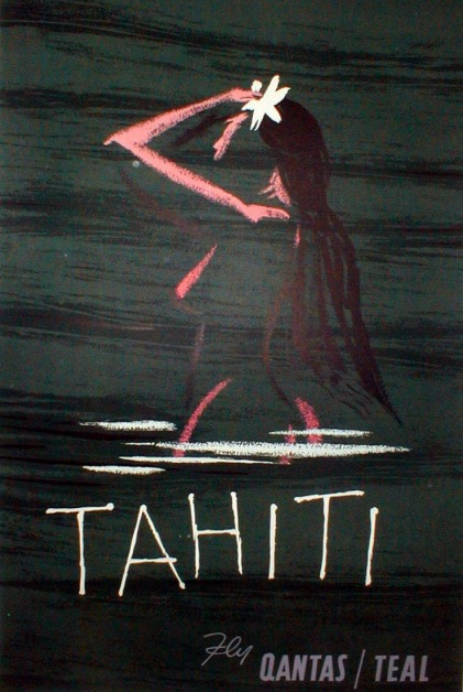 Qantas Teal Tahiti Ad