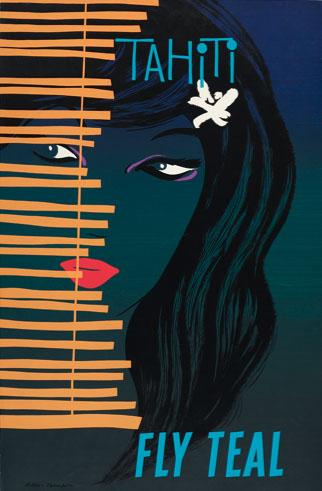 Tahiti 'Fly Teal' Poster