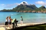 Seattle's Evening Magazine filming in Bora Bora