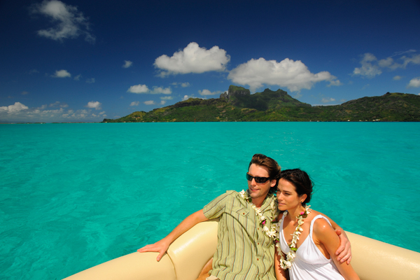 Couple in Tahiti