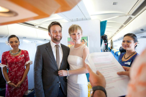 2people1life Wedding on Air Tahiti Nui