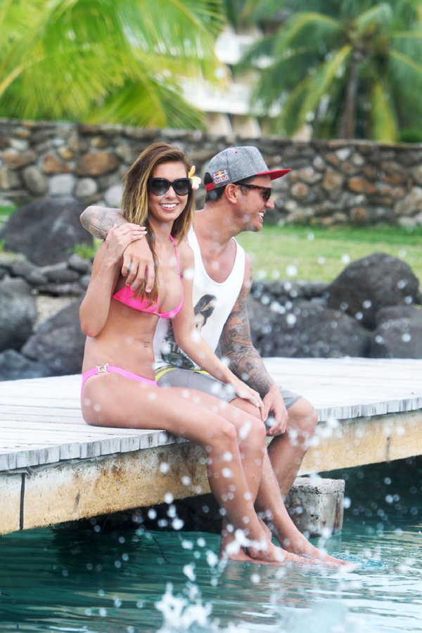 Audrina Patridge in Tahiti